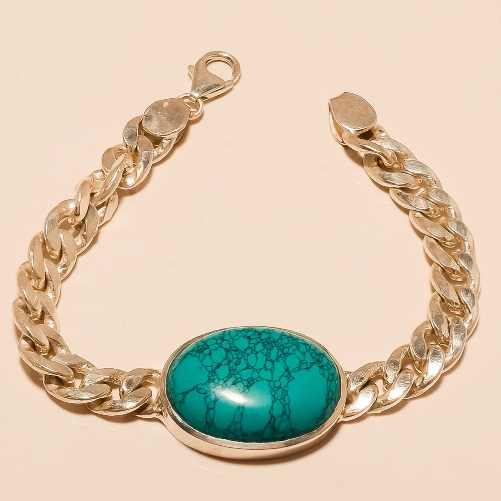 Salman Khan Inspired Thai Blue Turquoise Gemstone Menus Jewelry