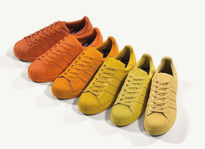 Bir Demet Moda Pharrell Williams X Adidas Originals Superstar Supercolor Koleksiyonu Sneaker Pharrell Williams Ayakkabilar