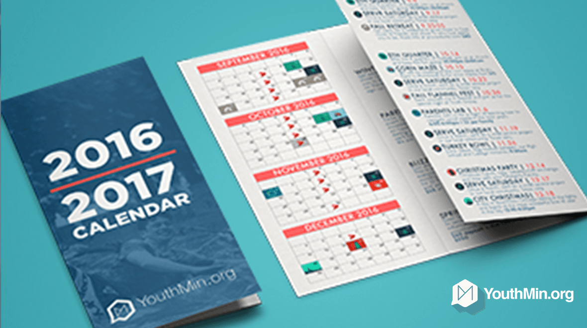 12 Month Calendar Template Youth Ministry 12 Month