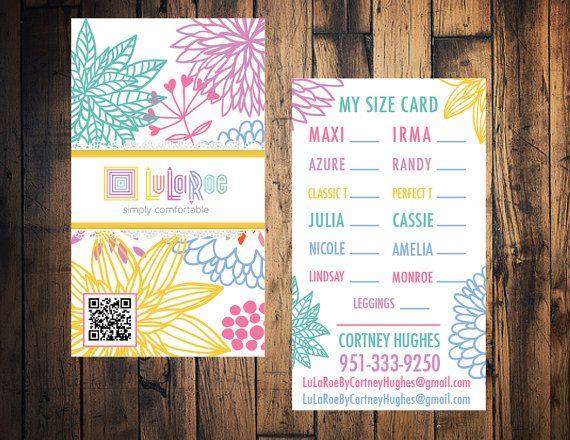 lularoe business card lularoe size card lularoe by thewrightinvite