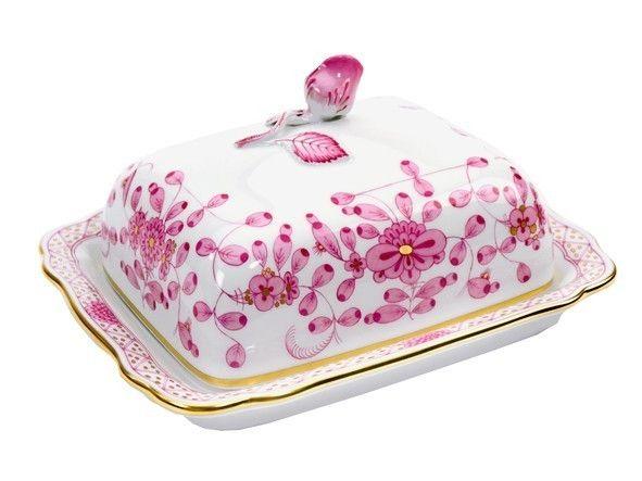 Oriental Blossom Butterdose Butterschale mit Deckel aus Porzellan