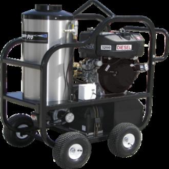 Diesel powered hot water pressure washer Pressure washer