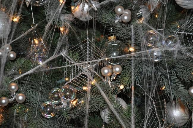 Creepy Christmas Day 21 Ukrainians Decorate Their Christmas Trees With Spider Webs Creepy Christmas Nightmare Before Christmas Tree Christmas Eve Traditions