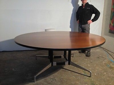 Herman Miller Foot Round Walnut Conference Table For The Home - 6 foot round conference table