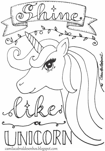 Camila Cabral Desenhos Lettering Unicórnio Unicornio Para