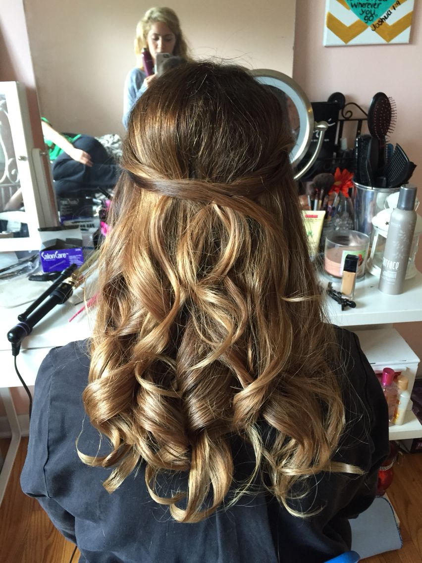 Simple half up half down style for a wedding! | Dance ...