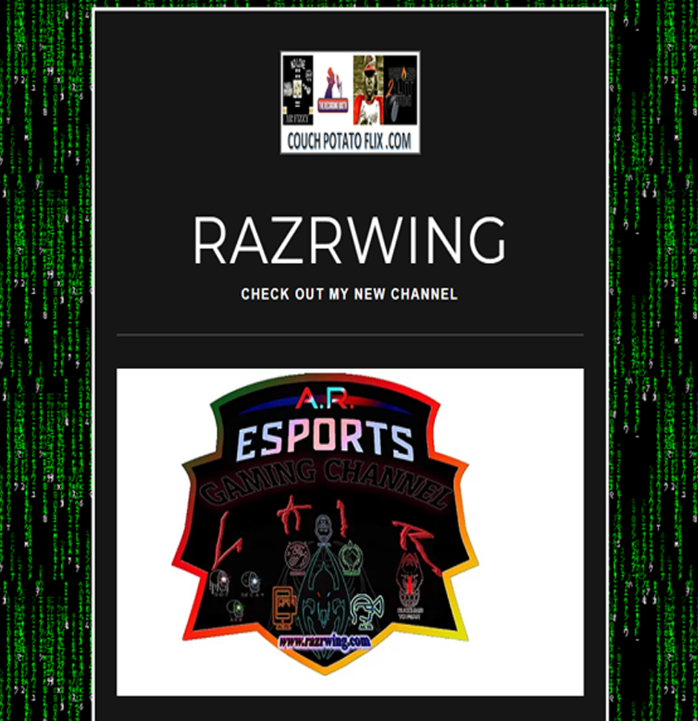 RazrWing CHECK OUT MY NEW CHANNEL Sports games, News