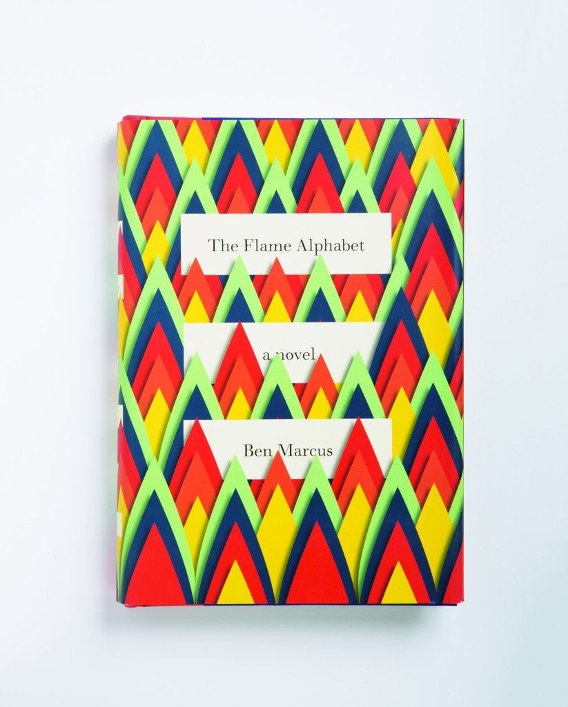 Mendelsund initially was cutting up paper to make birds for the cover. When he flipped over his design, he realized that he had accidentally created fire. From Cover by Peter Mendelsund, published by powerHouse Books