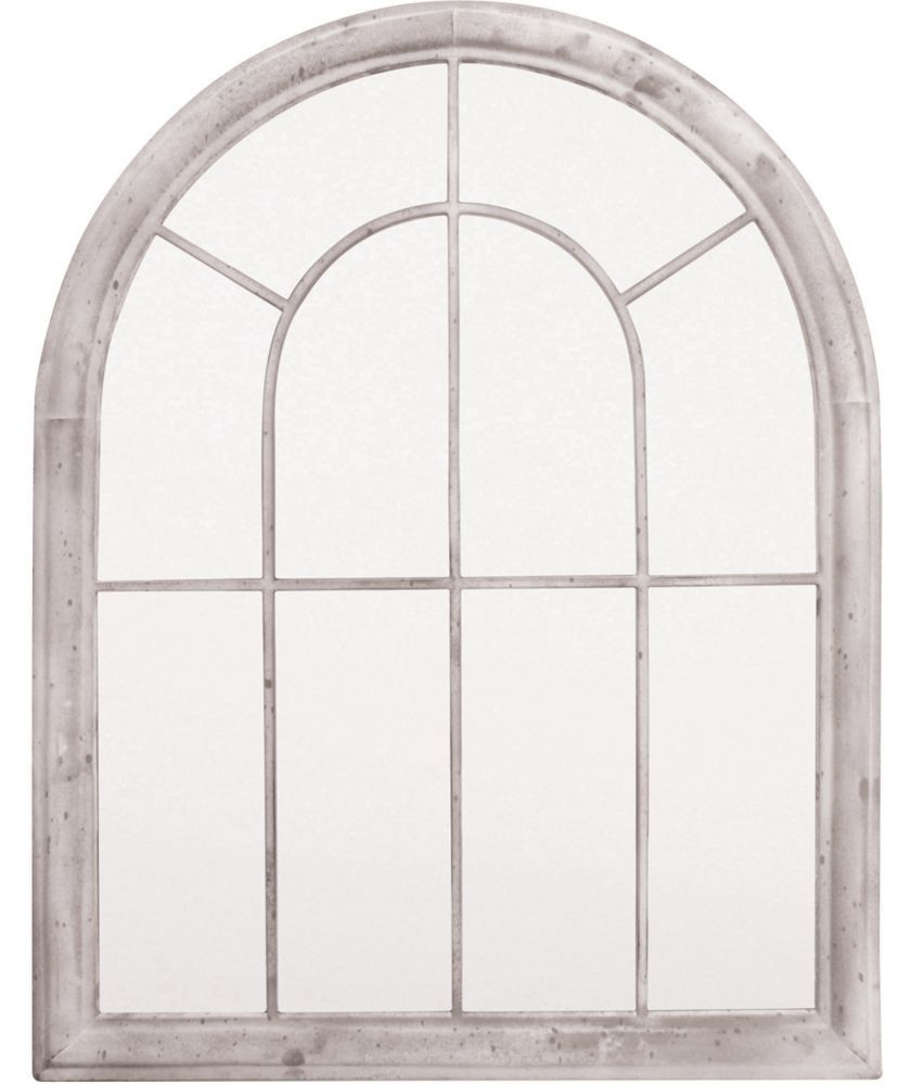 Showcasing A Sweeping Arched Design This Stunning Metal Mirror Adds Sense Of Rustic Style To Your Patio Or Living Room When Paired With Weathered Wood