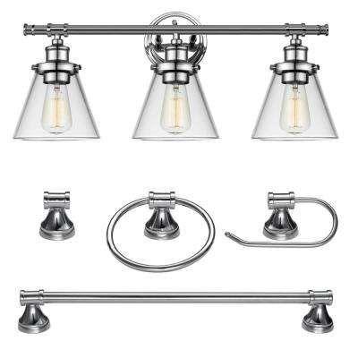 21++ Home depot bathroom lighting chrome ideas