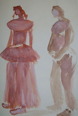 Watercolours #painting #art #couple