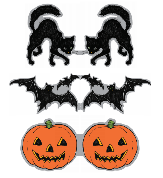 FREE printable halloween cupcake toppers from martha ...