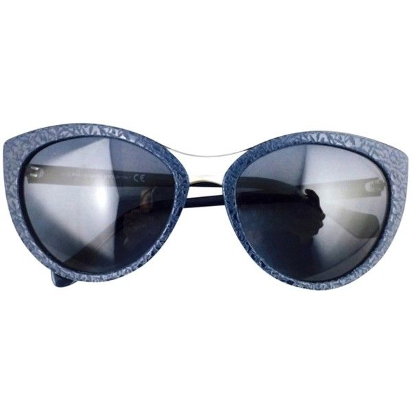 Pre-owned Balenciaga Navy Blue With Silver Trim Cat Eye Framed... (520.350 COP) ❤ liked on Polyvore featuring accessories, eyewear, sunglasses, none, balenciaga, balenciaga glasses, balenciaga sunglasses, cat-eye glasses and balenciaga eyewear