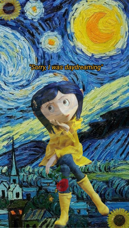Coraline For Juliana Em 2020 Wallpapers Bonitos Quadros De Van Gogh Papeis De Parede Do Telefone Celular