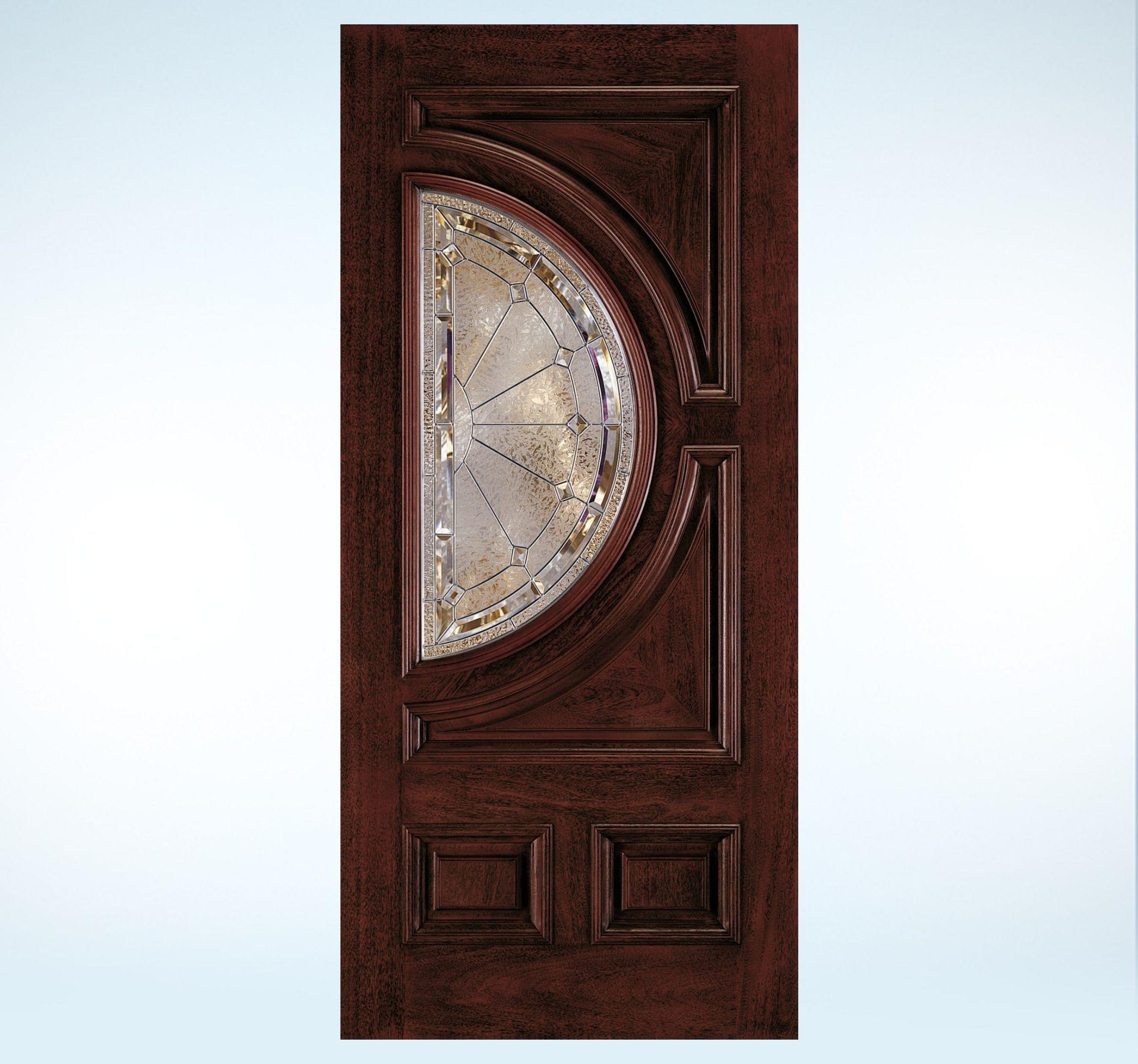 Aurora Custom Fiberglass Glass Panel Exterior Door Antique Wall Clock Energy Efficient Door Wall Clock