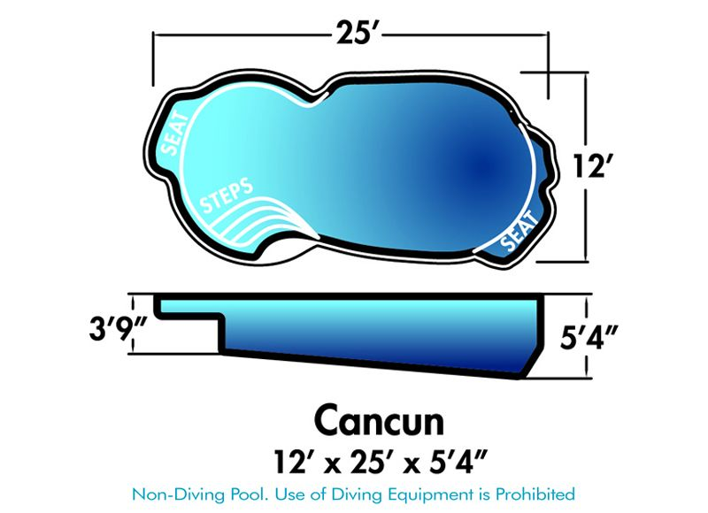 Cancun model from dolphin pools fiberglass swimming pools new jersey inground pool prices nj for Poole dolphin swimming pool prices