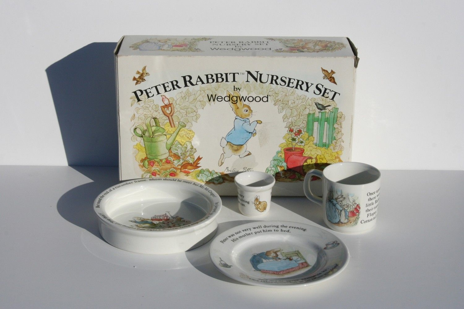 Beatrice Potter Peter Rabbit Nursery Set Wedgwood I Have This