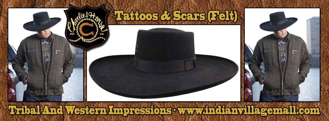 old west mens hats  tattoos scars charlie 1 horse western cowboy hat black  fur felt hat low flat crown 5 470e6d36a1b