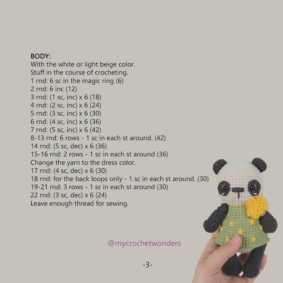 Amigurumi panda free crochet pattern   bebes   Pinterest   Tejidos ...