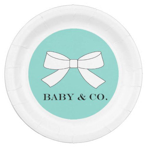 BABY \u0026 CO Teal Blue Tiffany Party Paper Plates  sc 1 st  Pinterest & BABY \u0026 CO Teal Blue Tiffany Party Paper Plates | Tiffany party