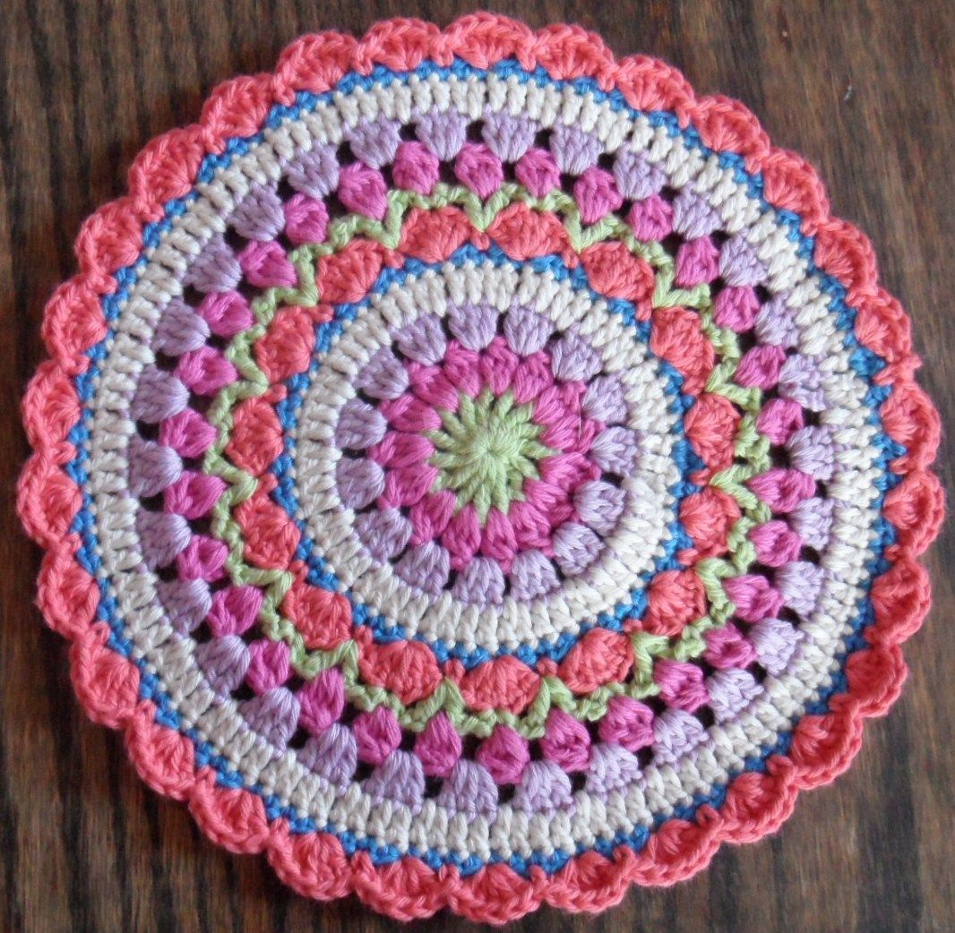 Magnífico Mandala Patrón De Crochet Libre Imágenes - Manta de Tejer ...