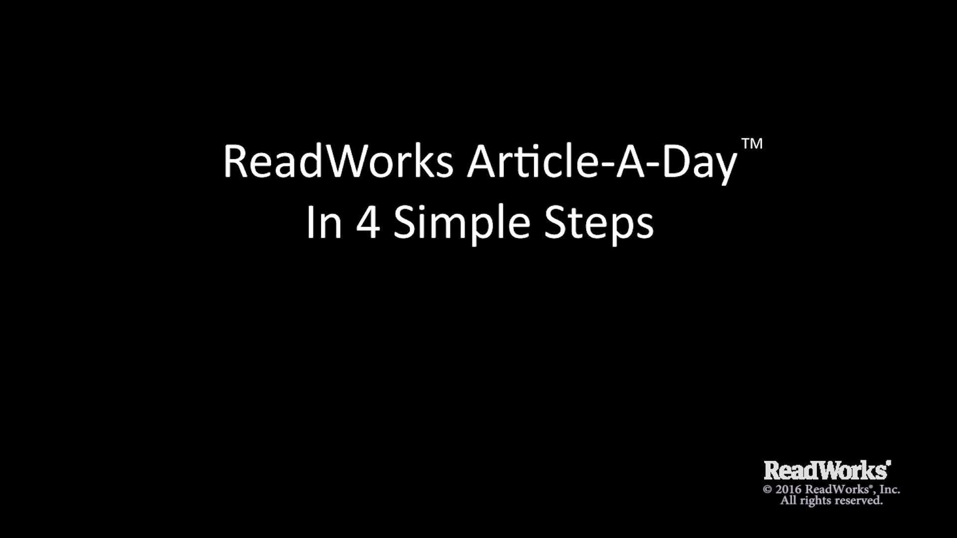 Readworks Article A Day Demonstration