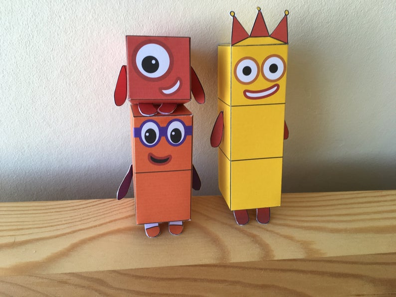 Numberblocks 1-10 Printable Paper Toys / Origami templates ...