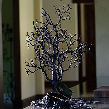 black tabletop halloween tree - Black Halloween Tree