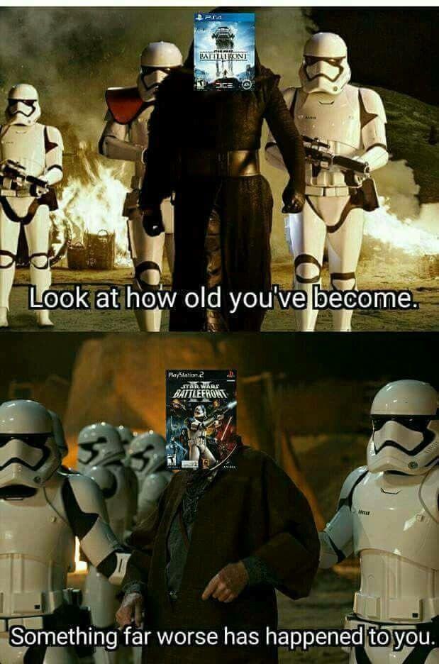 Man I Loved Star Wars Battlefront 2 I Think I Like It Better Than The New Battlefront Funny Star Wars Memes Star Wars Battlefront Star Wars Humor