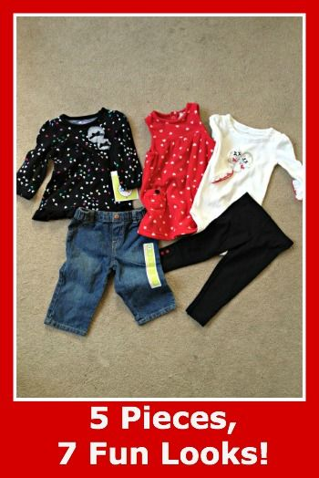 5 Cute Pieces, 7 Cute Outfits for Baby #spon    Please 'Like', 'Repin' and 'Share'! Thanks :)