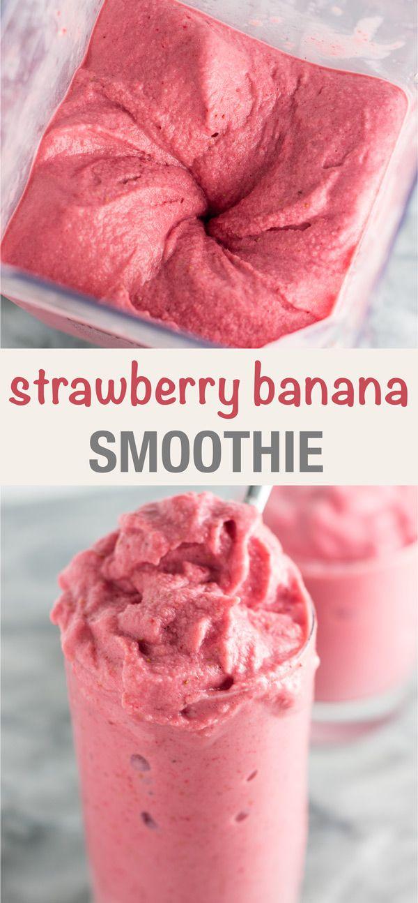 Strawberry Banana Smoothie Strawberry Banana Smoothie Recipes Smoothie Recipes Strawberry Banana Smoothie Recipe