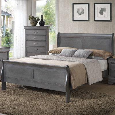 Best Laurel Foundry Modern Farmhouse Guffey King Sleigh Bed In 400 x 300