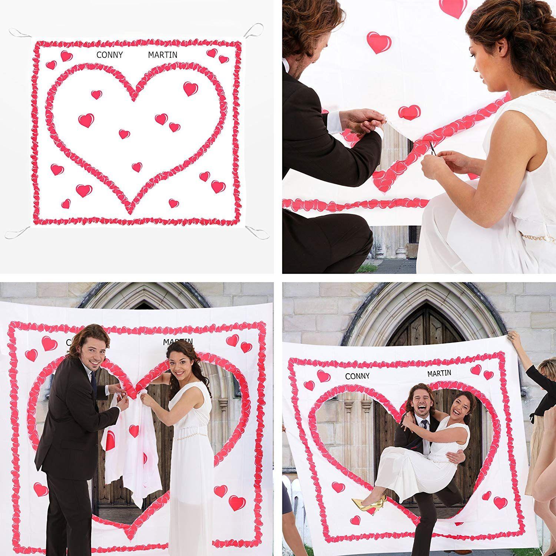 Hochzeitsherz Zum Ausschneiden Fur Das Brautpaar Komplettset