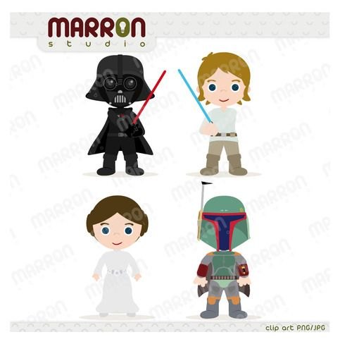 Star Wars Favor Bags-Yoda Birthday Favor Bags-Darth vader Favor Bags-Princess Leia Favor Bags-Chewbacca-Luke Sky Walker-Star Wars Set of 6