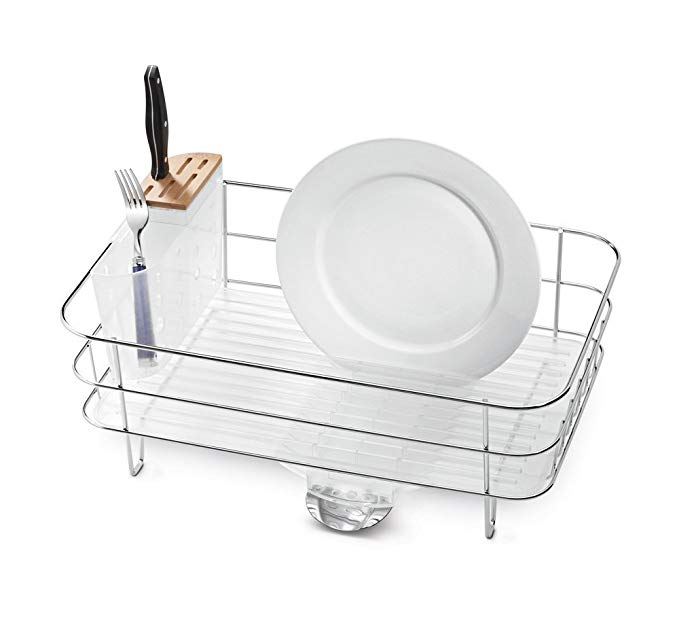 Amazon Com Simplehuman Kitchen Slim Wire Frame Dish Rack With