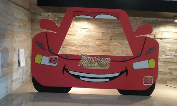 disney cars photo booth frame ray mcqueen