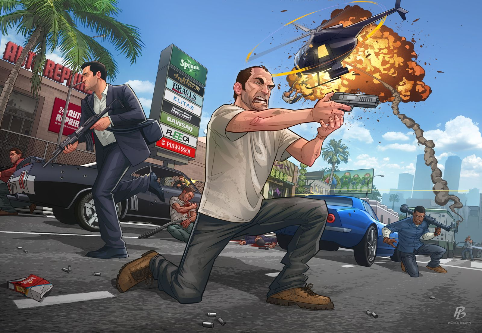 GTA V - Launch piece - Patrick Brown Art