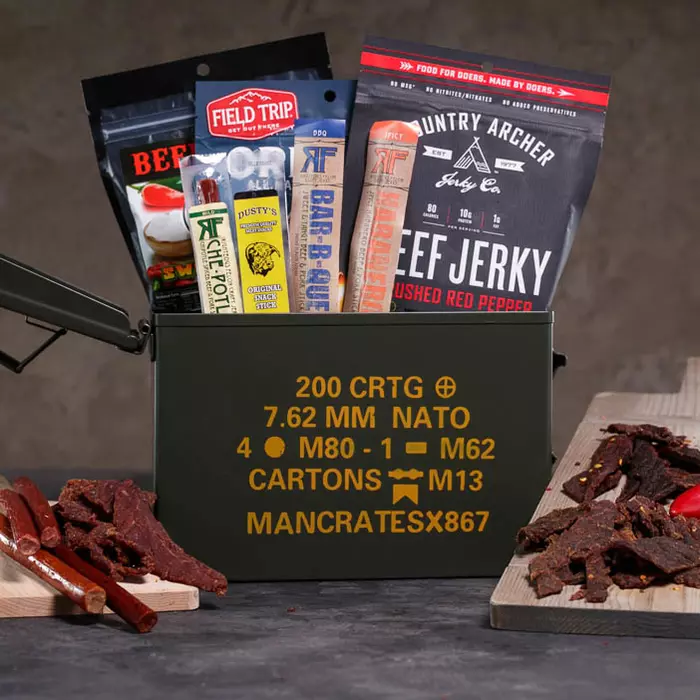 Premium Jerky Ammo Can   Snack Gifts For Guys