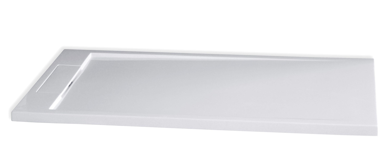 mineralguss duschtasse rechteckig m2480cw - weiß glänzend - 140x80x3