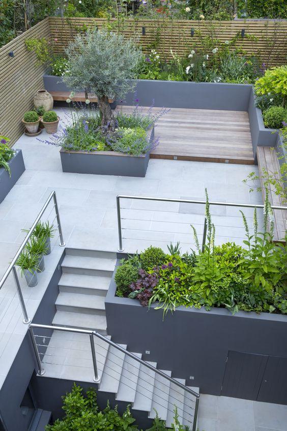 Paisajismo para jardines decoraci n de jardines jardines - Jardines exteriores de casas modernas ...