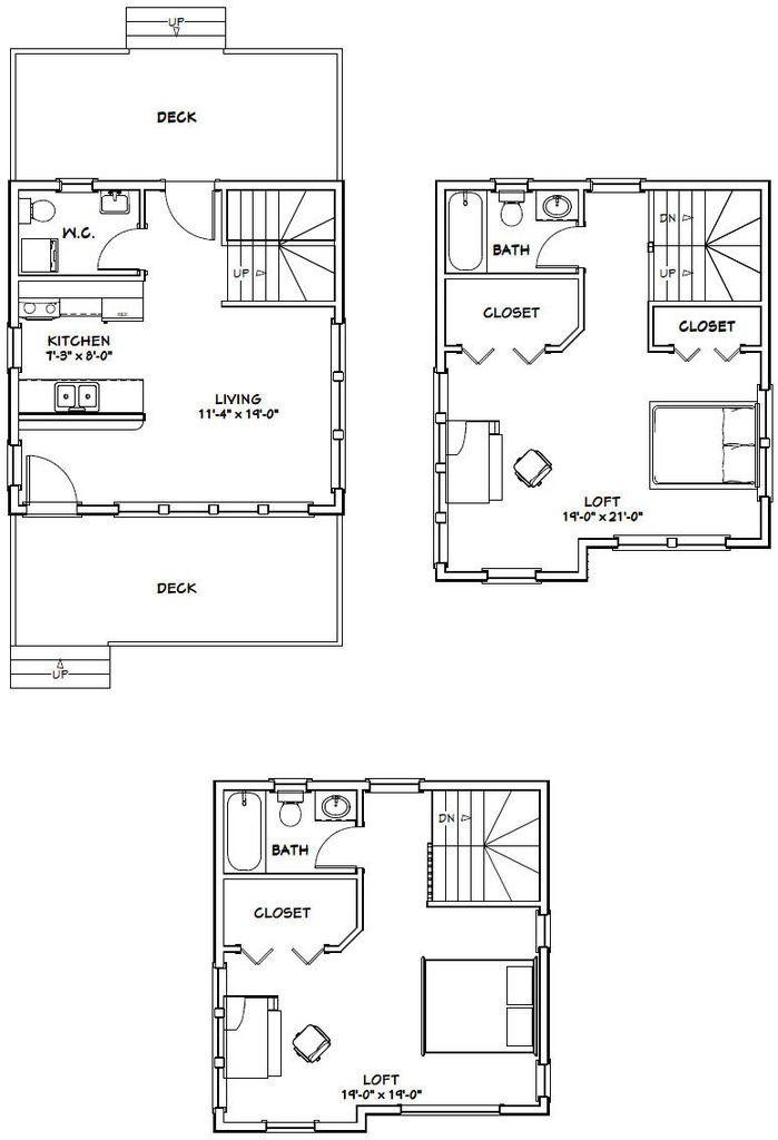 20x20 Tiny House 20X20H9 1108 sq ft Excellent Floor Plans – 20X20 Garage Plans