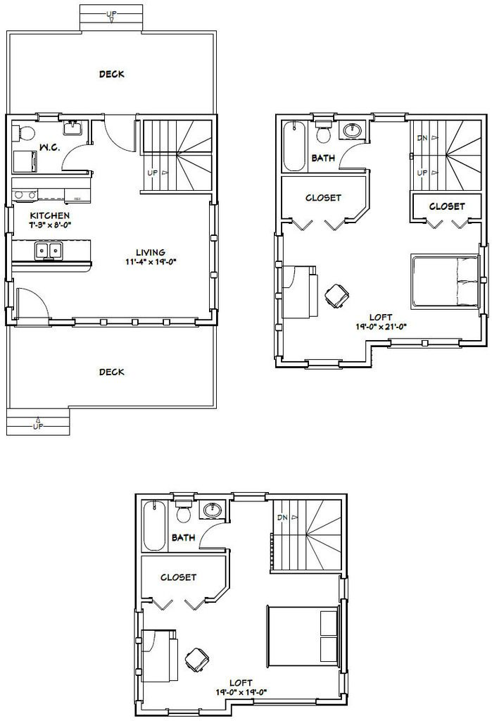 20x20 Tiny House 20x20h9 1 108 Sq Ft Excellent Floor