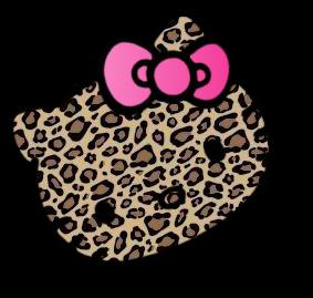 i love hello kitty and leopard my style pinterest hello kitty rh pinterest com Lepord Print Clip Art Footprint Clip Art Black and White