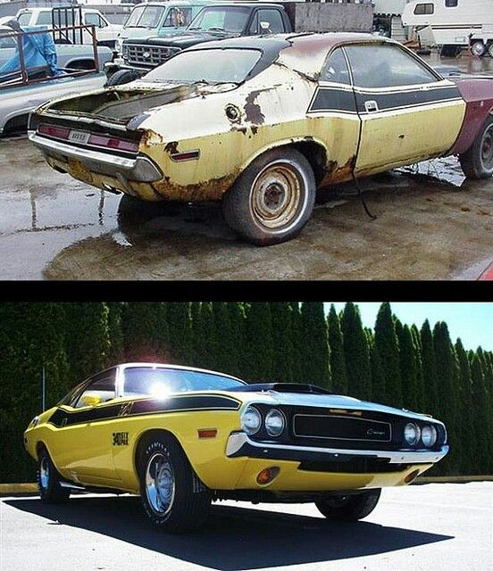 71 Challenger T/A Before & After