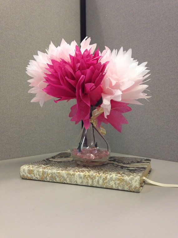 Faux Flower Desk Decoration by cristinaxo on Etsy