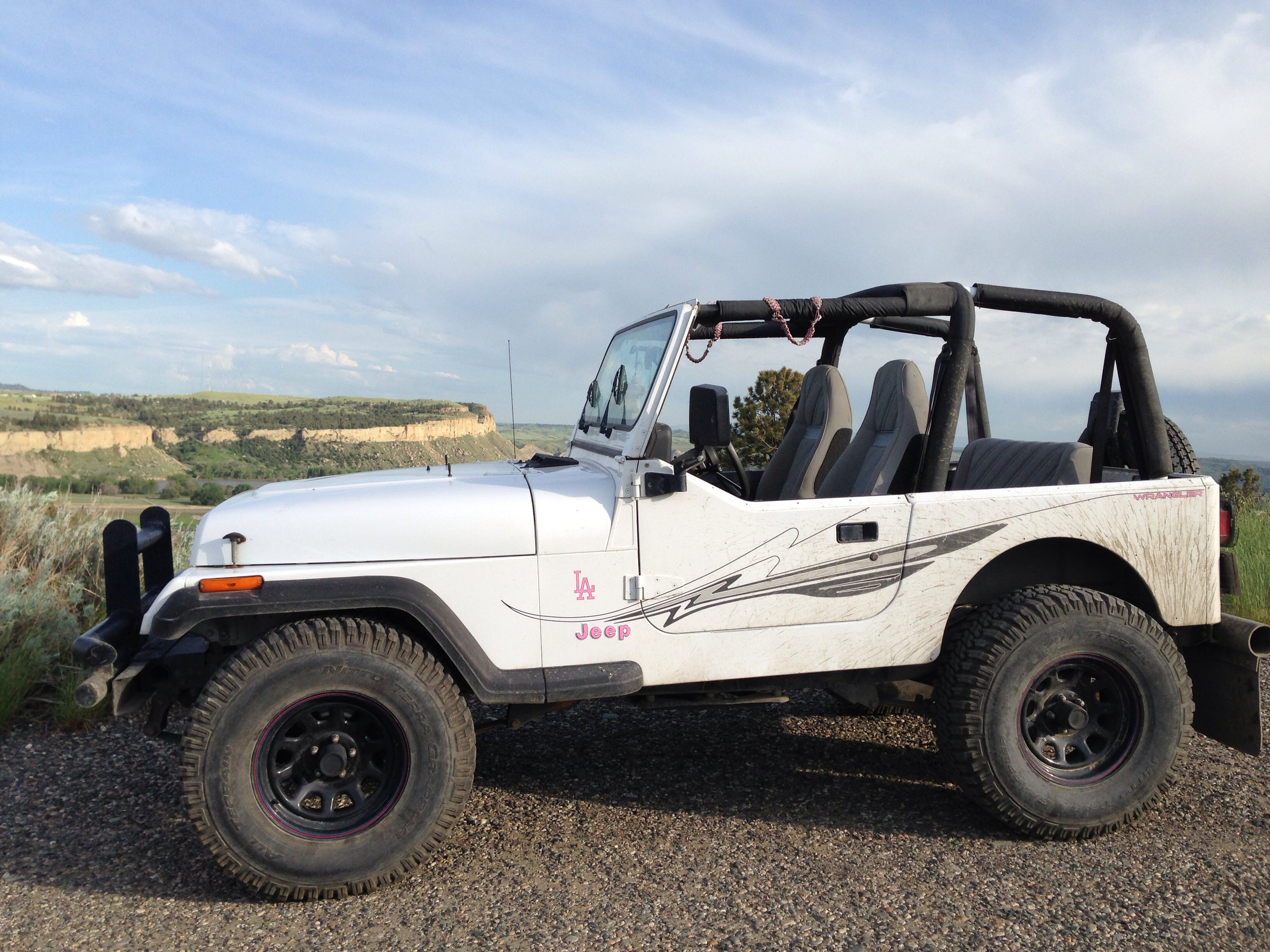 My 94 jeep wrangler yj on 33s white with pink accents jeep yj my 94 jeep wrangler yj on 33s white with pink accents sciox Image collections