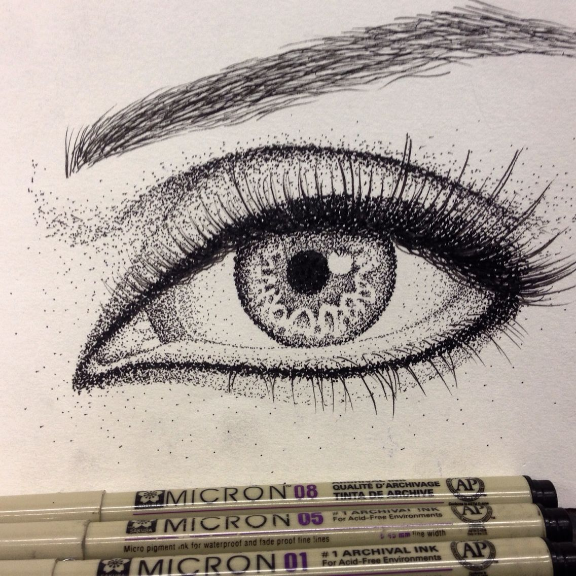 Eye Drawing Dot Work