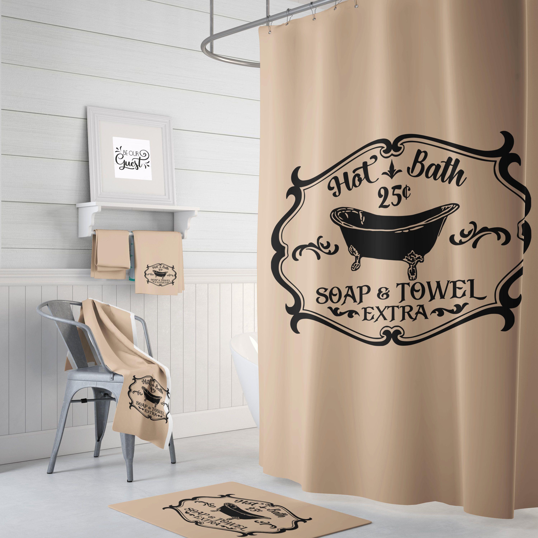 Shower Curtain Sets Hot Bath Shower Curtain Shower Curtain Etsy In 2020 Shower Curtain Decor Farmhouse Bathroom Decor Small Bathroom Decor
