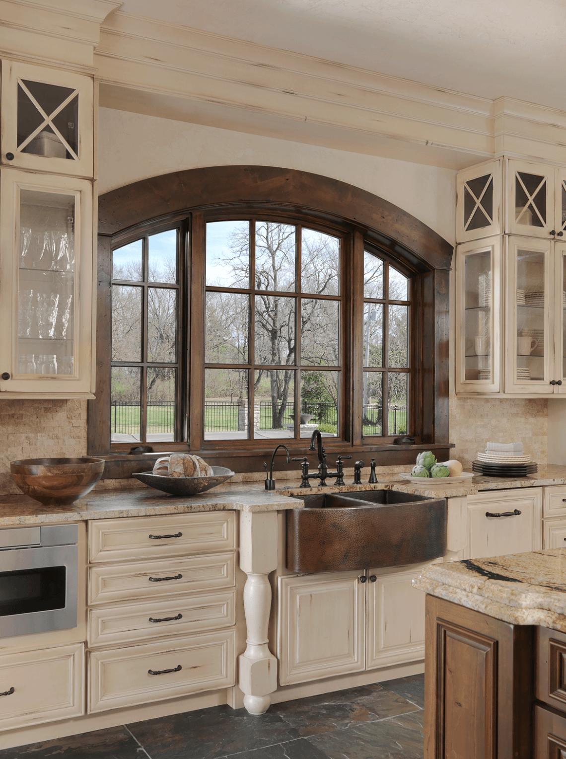 Old World Inspired Kitchen Rustic Farmhouse Kitchen Farmhouse