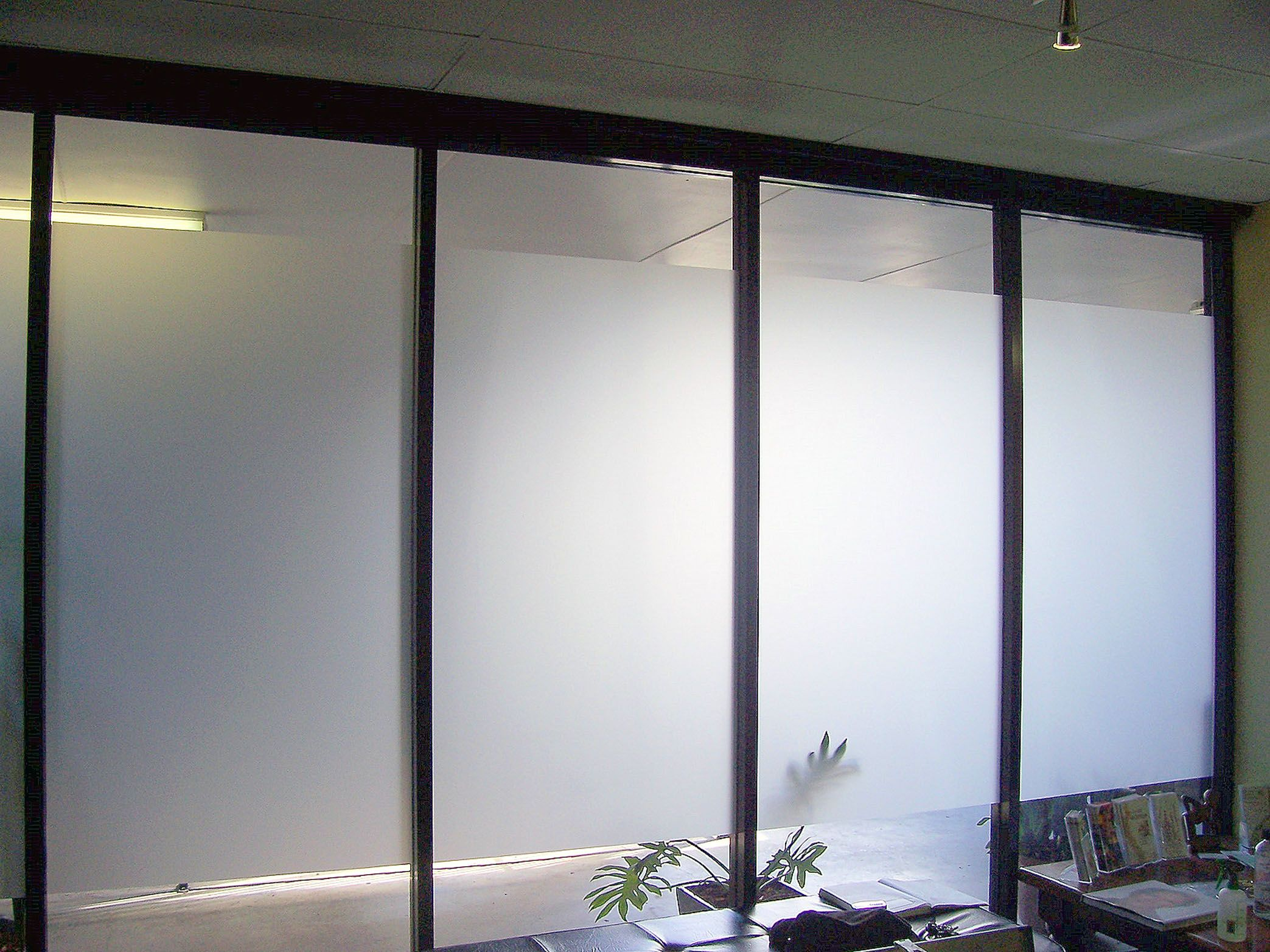 Glass office doors manufacturers -  Frosted Glass Office Door